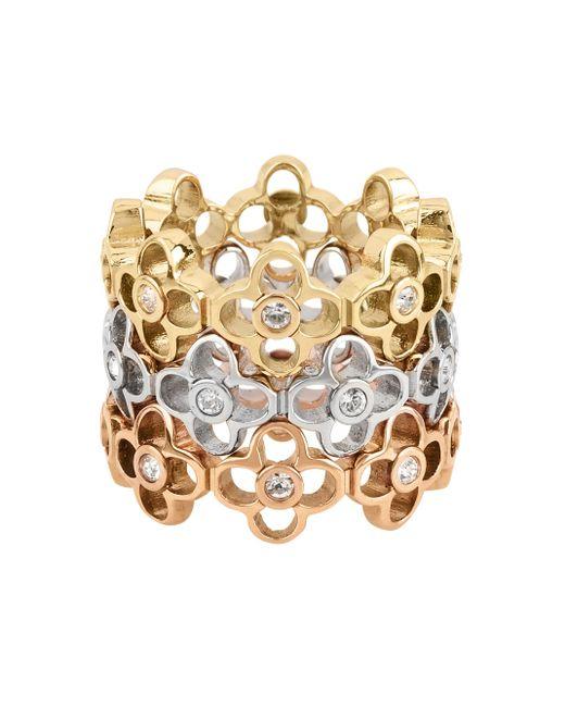 Henri Bendel | Metallic Iconic Charm Stack Ring | Lyst