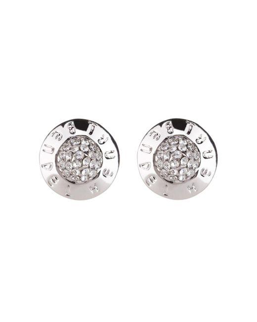 Henri Bendel | Metallic The Plaza Pave Stud Earrings | Lyst