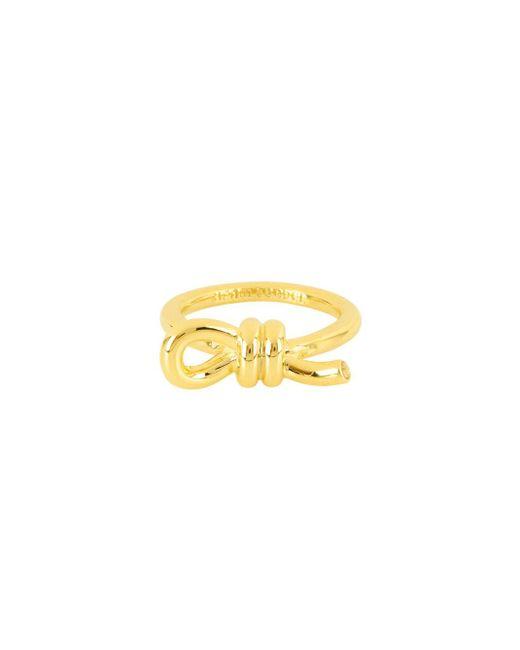 Henri Bendel - Metallic Love Knot Ring - Lyst