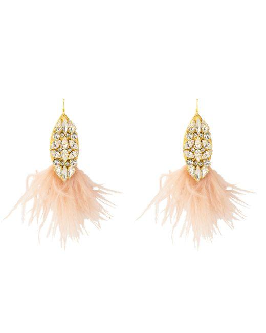 Henri Bendel - Pink Sandy Hyun Teardrop Feather Chandelier - Lyst