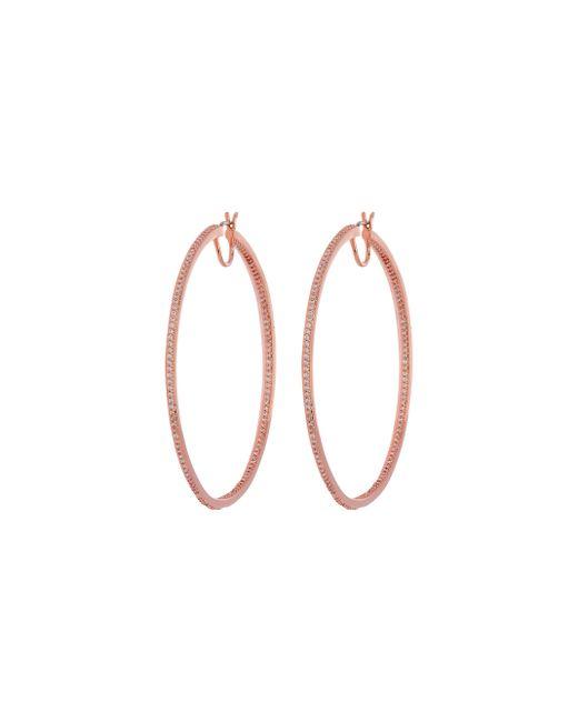 Henri Bendel - Pink Luxe Uptown Pave Hoop Earring - Lyst
