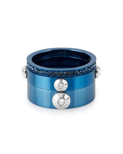 Henri Bendel | Blue Miss Bendel Stack Ring | Lyst