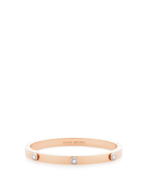 Henri Bendel - Metallic Miss Bendel Petal Pave Bangle - Lyst