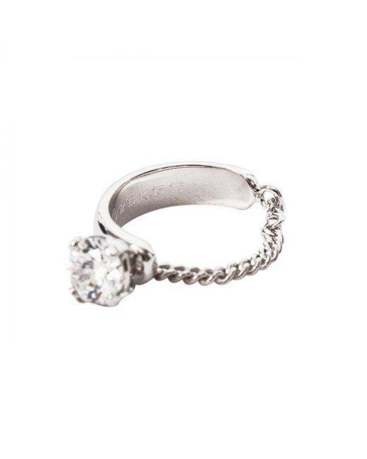Maison Margiela   Metallic Zircon Chain Ring Silver   Lyst