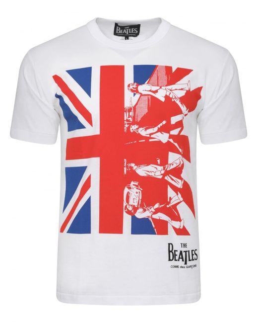Comme des Garçons - The Beatles Union Jack T-shirt White for Men - Lyst