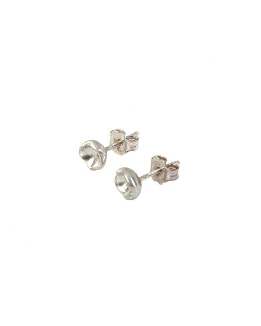 Rosa Maria - Metallic Niloufar Flower Stud Earrings Silver - Lyst