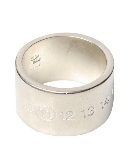 Maison Margiela - Metallic Square Ring for Men - Lyst