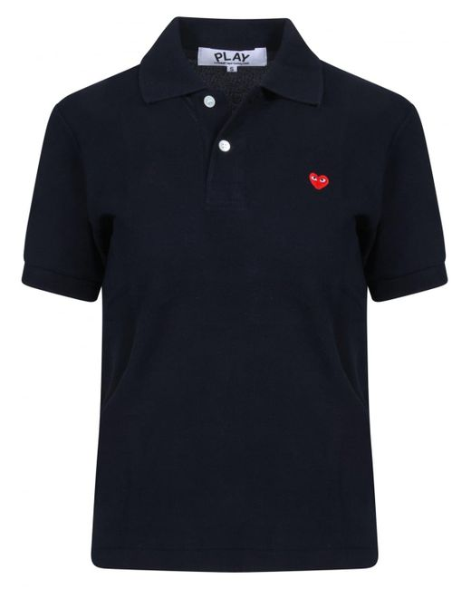 Comme des Garçons - Blue Small Heart Polo Shirt Navy for Men - Lyst