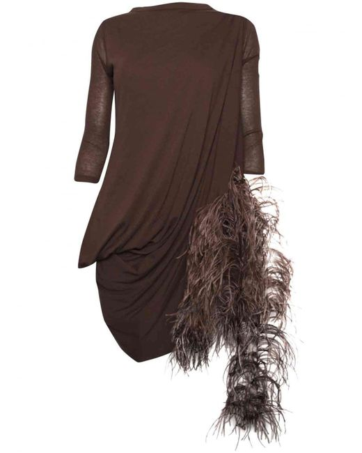 Rick Owens | Lilies Brown Marabout Top | Lyst
