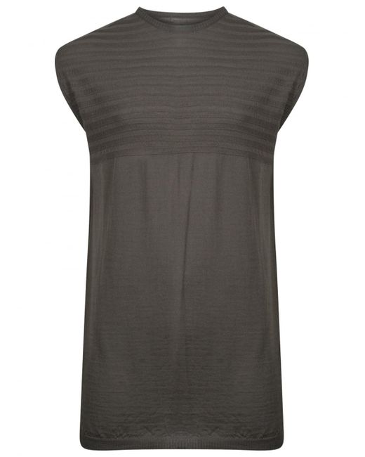 Rick Owens | Gray Oversize Lupetto Tank Top Grey | Lyst