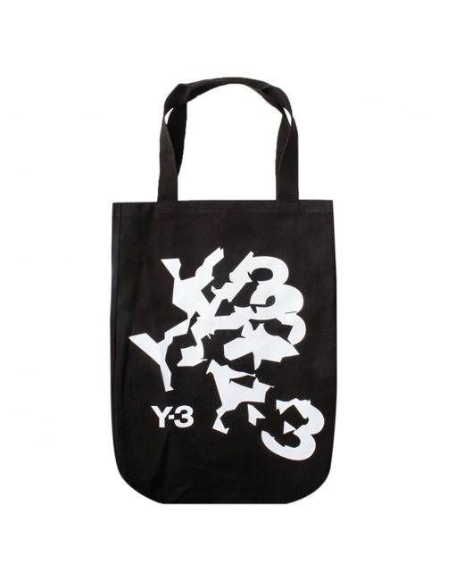 Y-3 | Canvas Cracked Logo Shopper Bag Black | Lyst