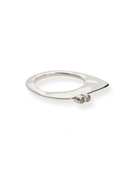 Rosa Maria - Metallic Keila Asymmetrical Diamond Ring Silver - Lyst