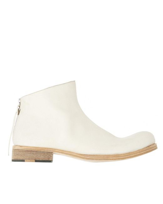 Ma+ - White Rear Zip Ankle Boots for Men - Lyst