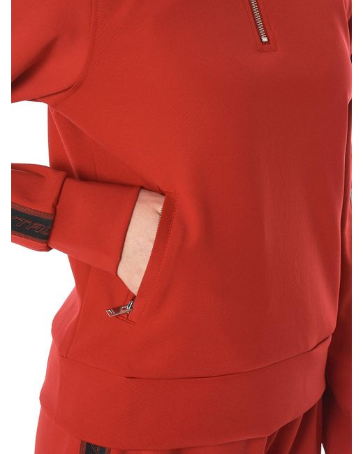 Lyst m i s b h v extacy half zip track jacket in red m i s b h v red extacy half zip track jacket voltagebd Gallery