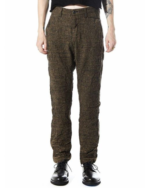 Attachment | Multicolor Boiled Wool Glen Plaid Trousers for Men | Lyst
