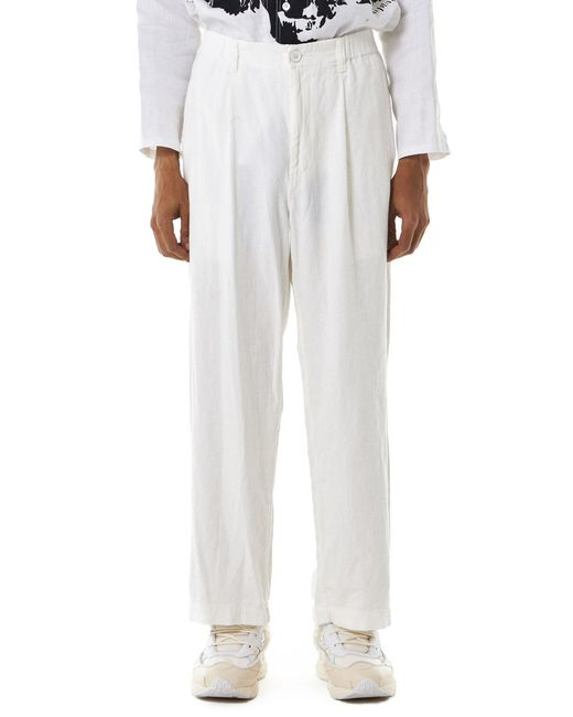 Issey Miyake   White Crepe-knit Trousers for Men   Lyst