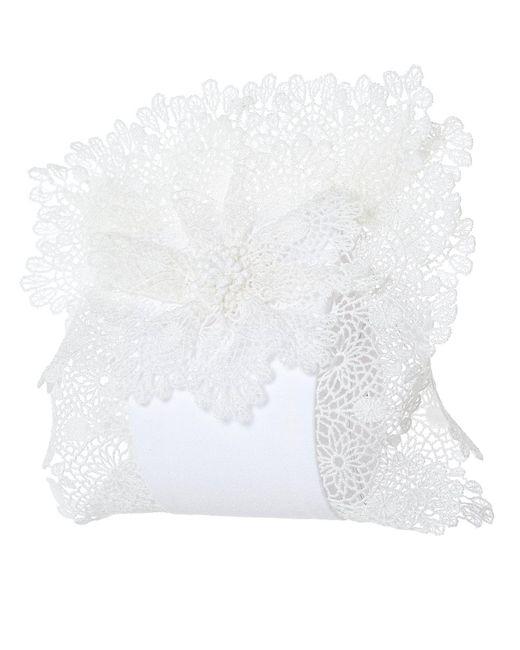 CATHERINE OSTI - White 'mazarine' Floral Cuffs - Lyst