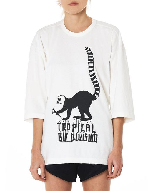Bernhard Willhelm - White 'tropical' Lemur Crewneck Tee - Lyst