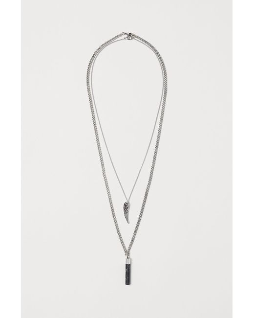 H&M - Metallic 2-pack Necklaces for Men - Lyst