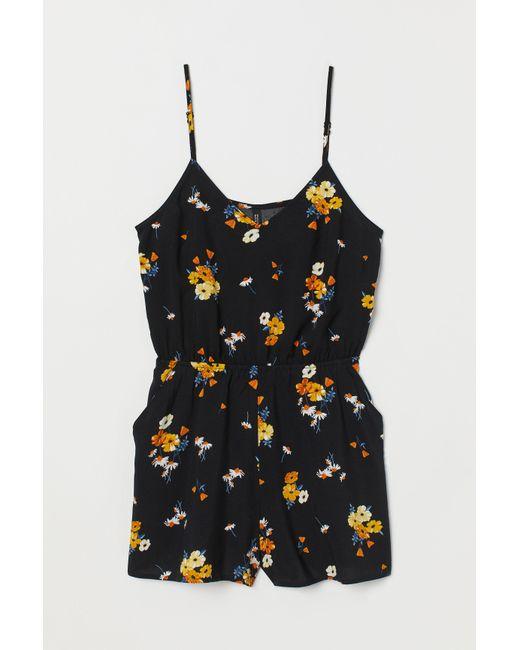 H&M Black Viscose Jumpsuit