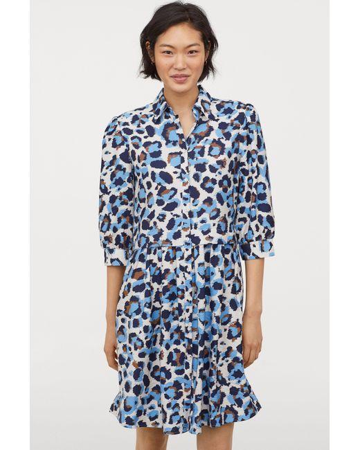 298e992601f66 Lyst - H&M Shirt Dress in Blue
