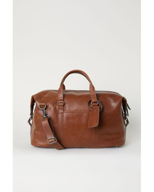 H&M - Natural Leather Weekend Bag for Men - Lyst