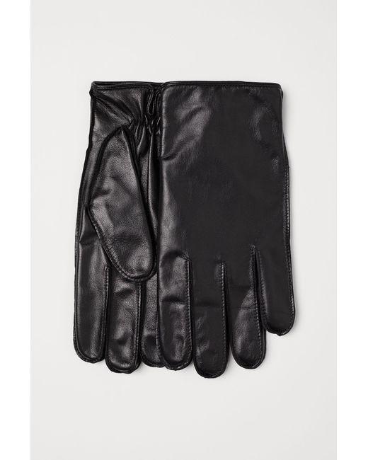 Gants en cuir pour smartphone H&M pour homme en coloris Black