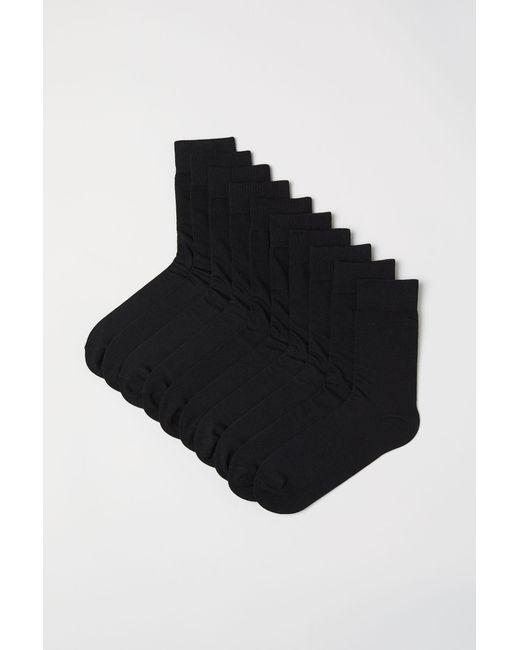 H&M - Black 10-pack Socks for Men - Lyst