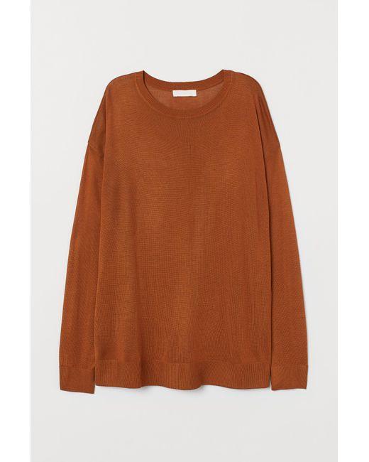 Pull en maille fine H&M en coloris Orange
