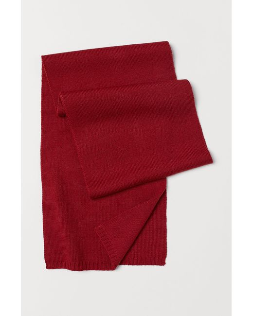 H&M - Red Écharpe for Men - Lyst