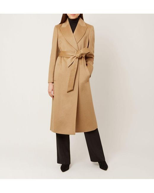 cb19bf78 Hobbs Olivia Wool Coat in Natural - Save 6% - Lyst