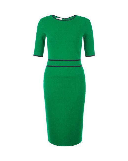 Hobbs naomi dress in green lyst for Apple green dress shirt