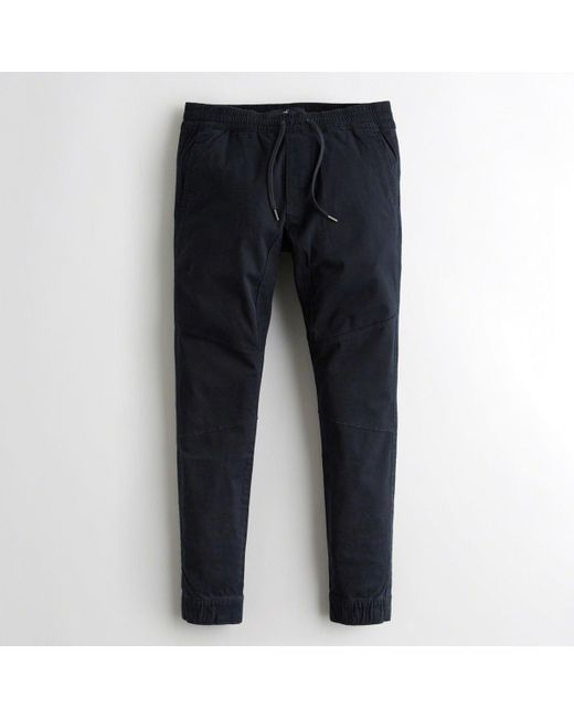 Hollister - Blue Guys Advanced Stretch Twill Super Skinny Jogger Pants From Hollister for Men - Lyst
