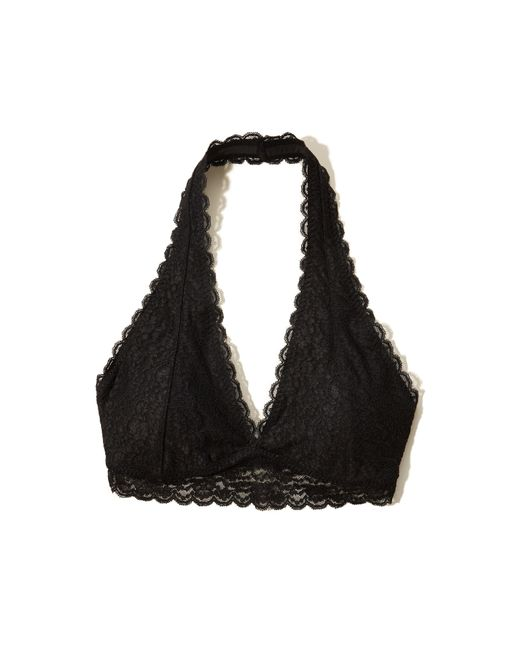 Hollister Lace Halter Bralette With Removable Pads in ...