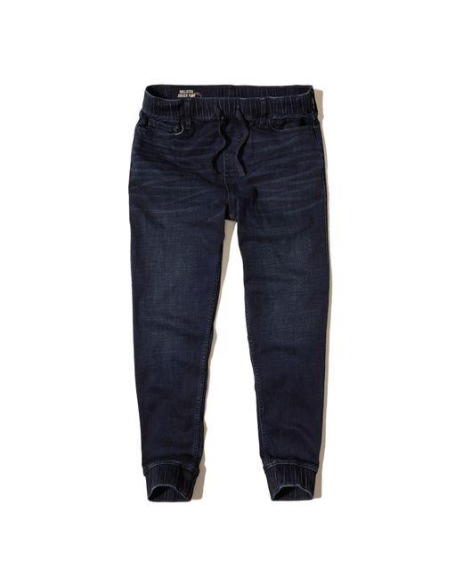 Hollister Denim Jogger Pants in Blue for Men | Lyst