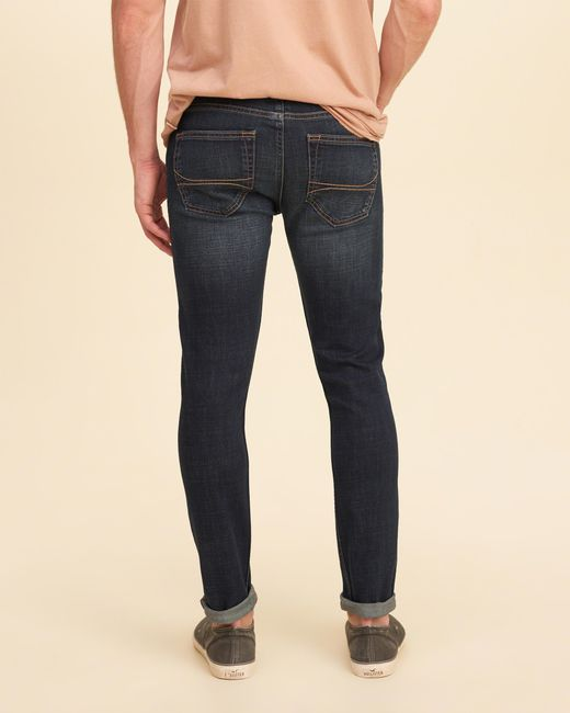 Hollister Extreme Skinny Jeans in Blue for Men | Lyst