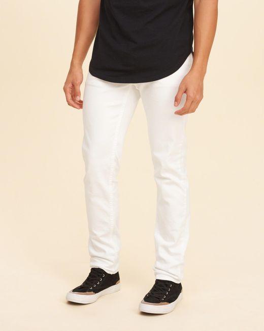Hollister Skinny Jeans in White for Men   Lyst