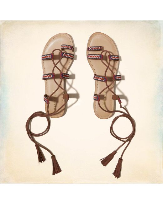 Madden Girl | Natural Saz Lace-up Sandal | Lyst