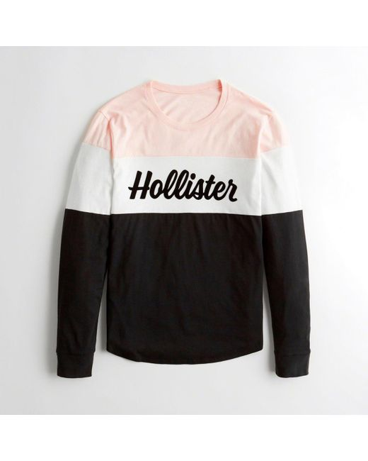 b06af694 Hollister - Black Girls Colorblock Logo Graphic Tee From Hollister - Lyst