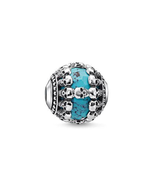 Thomas Sabo - Blue Skulls Turquoise Karma Bead - Lyst
