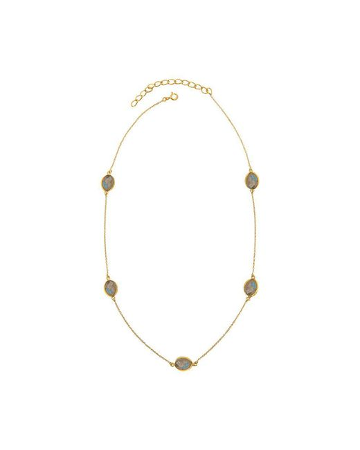 Juvi Designs | Metallic Gold Vermeil Around The World Necklace | Lyst