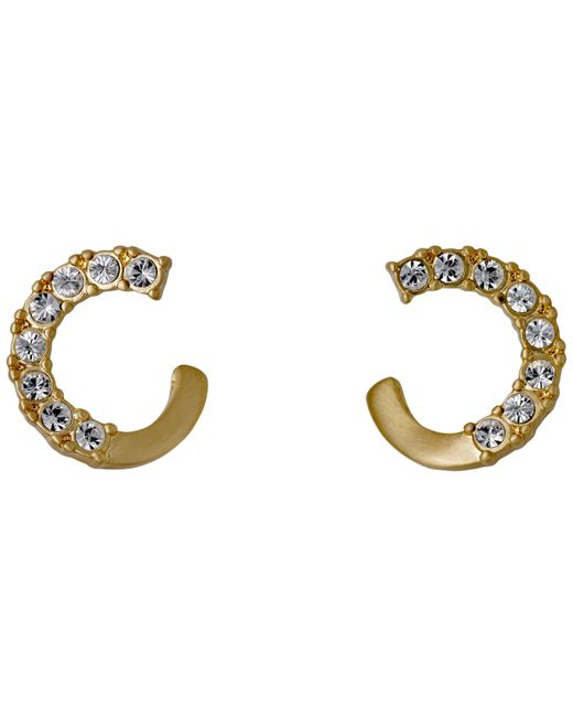 Pilgrim - Metallic Shany Gold Plated Crystal Earrings - Lyst