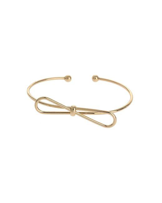 Mikey | Metallic Bow Design Ball End Cuff Bracelet | Lyst