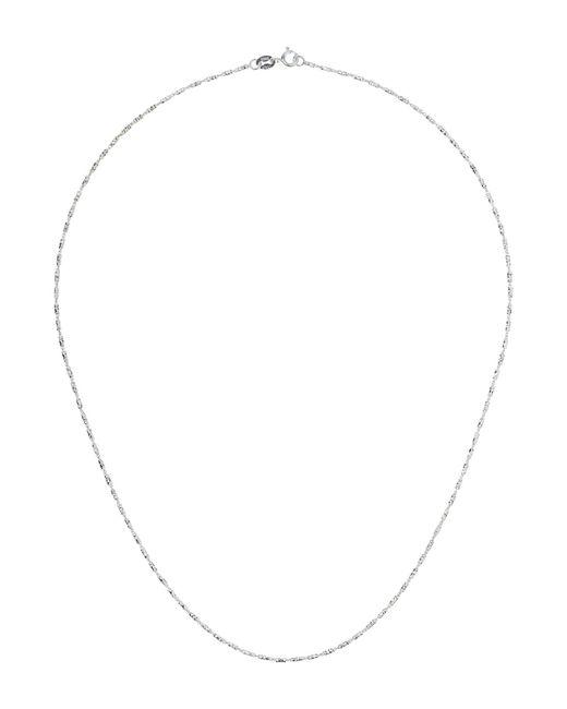 Mikey - Metallic Sterling Silver 925 Diamond Design Chain - Lyst