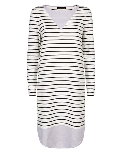 Jaeger | White Jersey Breton Stripe Dress | Lyst