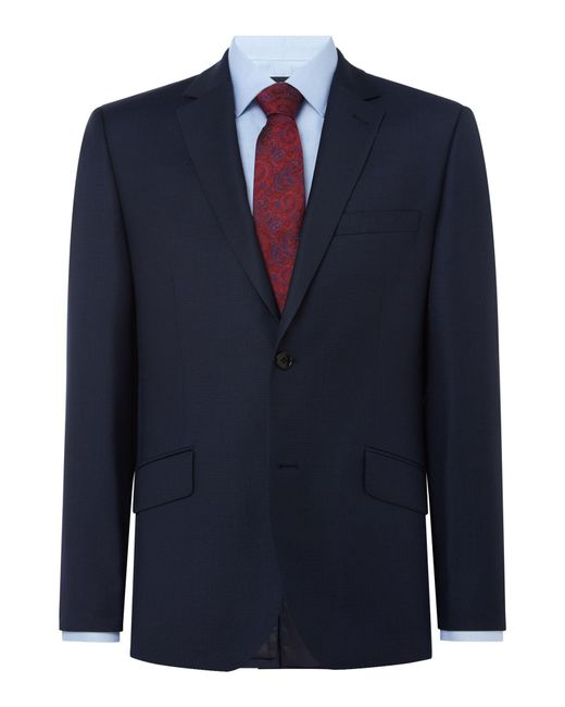Howick - Blue Darby Birdseye Slim Fit Suit Jacket for Men - Lyst