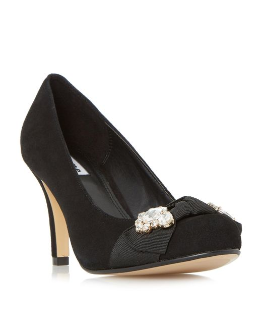 Dune | Black Beaches Jewel Trim Round Toe Court Shoes | Lyst