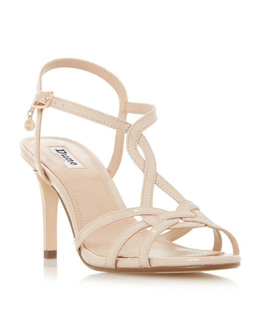 Dune   White Miniee Strappy Mid Sandals   Lyst