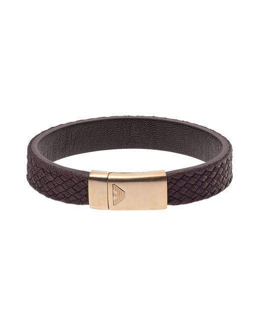 Emporio Armani - Brown Bracelet for Men - Lyst