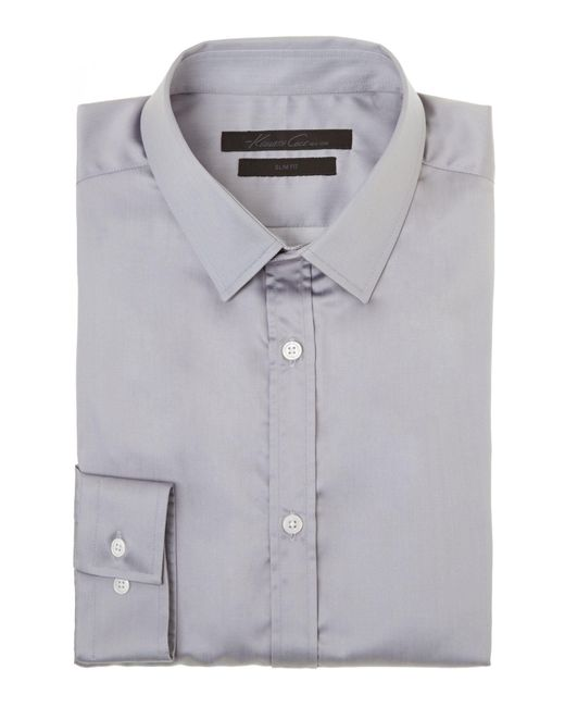 Kenneth Cole | Gray Flight Travel Shirt for Men | Lyst